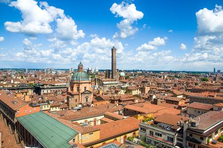 bologna emilia romagna italy city aerial