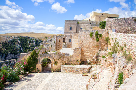 monte sant angelo: The ruins and the  entrance of the Pulsano hermitage