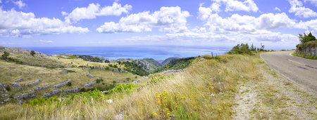 monte sant angelo: coastal road overlook Sea