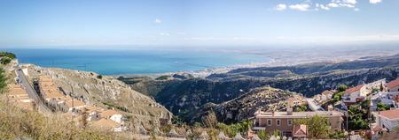 monte: monte sant angelo gargano puglia italy adriatic sea