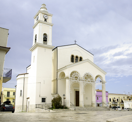 daunia: Lesina Gargano Puglia Italy white church annunziata