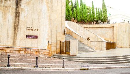 pio: The Via Crucis near the Padre Pio sanctuary in San Giovanni Rotondo, Apulia, Italy