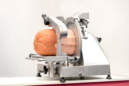 SLICER: meat slicer mortadella