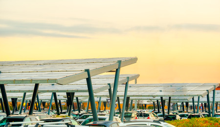 太陽電池パネル駐車場キャノピー