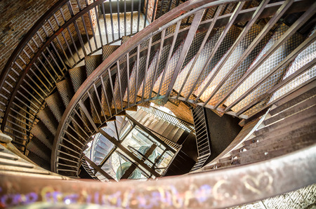 spiral staircase metal bell tower