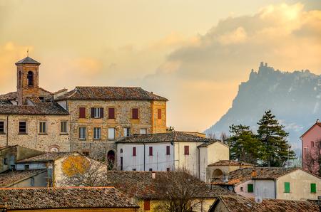 Town of Verucchio - Rimini italian village landscape emilia romagna countryside background