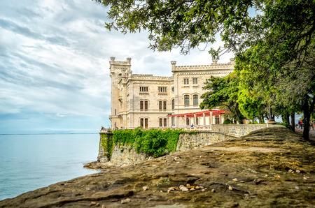 Castello di Miramare in Trieste - castle overlooking sea