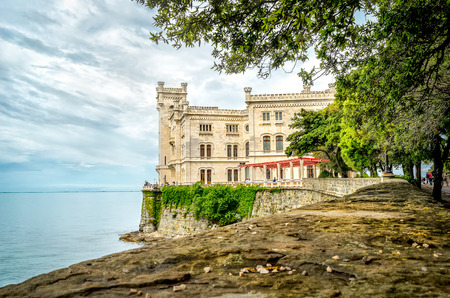 Castello di Miramare in Trieste - castle overlooking sea