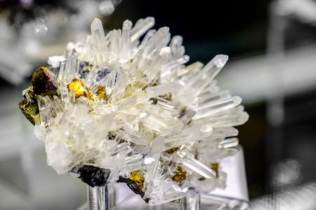 sphalerite: Sphalerite quartz chalcopyrite mineral Stock Photo