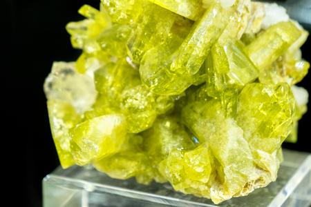Brazilianite mineral stone Stock Photo
