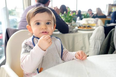 newborn restaurant baby bib high chair table eating chew cloth