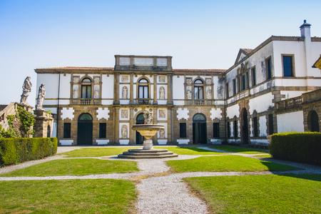 ville: Villa Duodo central garden fountain Monselice Euganean Hills area