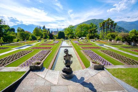 famous italian gardens example - Villa Taranto botanical garden - Pallanza - Lago Maggiore - piedmont - Italy Editorial