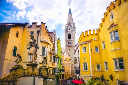 Torre Bianca of Bressanone (Brixen) - south tyrol - Bozen (Bolzano) province - Italy Stock Photo