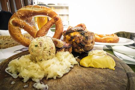 south tyrol food pork shank canederli kraut sausage