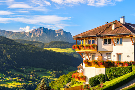 Alto Adige panoramic landscape italian dolomites panorama south tyrol cottage