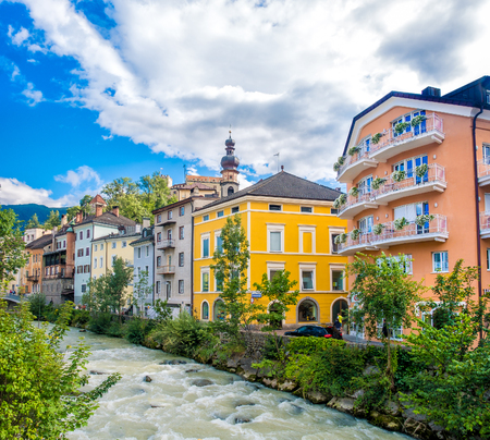 Brunico ( Bruneck ) in Trentino Alto Adige - Italy Rienza river