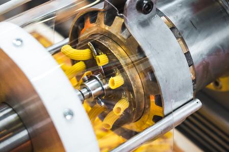 Pasta machine dies brass factory industrial machine called Trafila used for Trafilatura al bronzo (Bronze drawing)