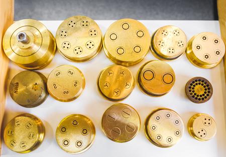 pasta dies extrusion shape brass pasta machine part golden stencil