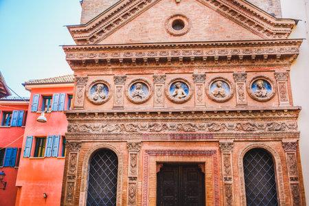 Oratorio Santo Spirito Bologna church facade - Emilia Romagna - Italy Editorial