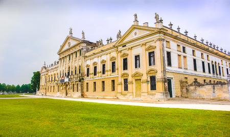 Villa Pisani national museum buiding entrance Stock Photo