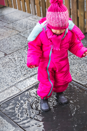 baby girl puddle pink winter clothes boots female