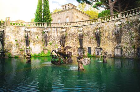 Pegasus fountain of Villa Lante in Bagnaia, Viterbo - Italy