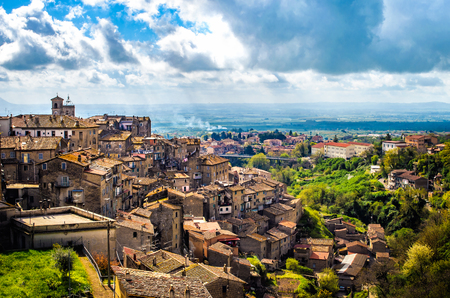 Caprarola latium village panorama - landscapes Viterbo province - Italy