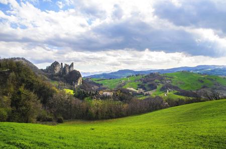 Parco regionale dei Sassi di Rocca Malatina - Modena Vignola - Emilia Romagna - Italy Stock Photo