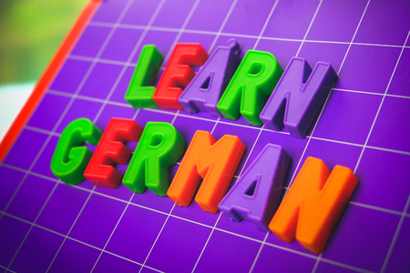 learn german language alphabet on magnets letters 스톡 콘텐츠