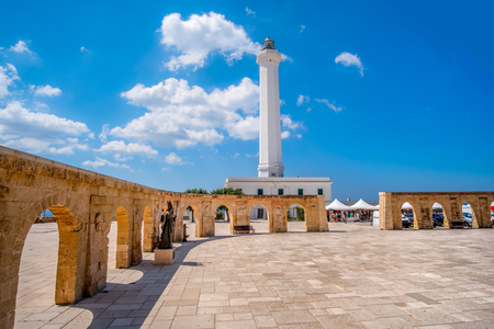 Santa Maria di Leuca white lighthouse - Lecce - Salento Apulia - - Italy