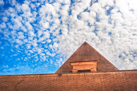 pyramid sky background cloudscape travel in egypt 写真素材