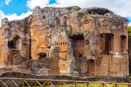 Grand Thermae or Grandi Terme of Villa Adriana or Hadrians Villa archaeological in Tivoli - Rome - Lazio - Italy