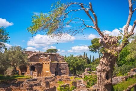 Tivoli - Villa Adriana archaeological site in Rome - Lazio - Italy