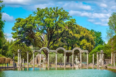 Villa Adriana or Hadrians Villa in the Canopus area in Tivoli - Rome - Italy
