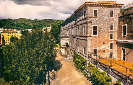 vintage villa outdoor garden of Villa DEste in Tivoli - Rome - Lazio - Italy Stock Photo