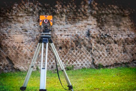 Total station theodolite archaeology engineering and construction tool
