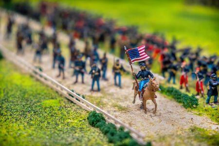 american civil war toy soldier with flag gettysburg battle model near Washington