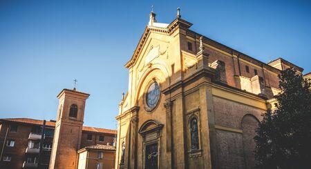 Bologna local landmarks of Emilia Romagna - Italy - the San Paolo di Ravone church Фото со стока