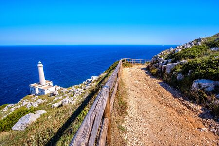 trail to the lighthouse of Italy in Punta Palascia - Salento - Lecce province in Puglia