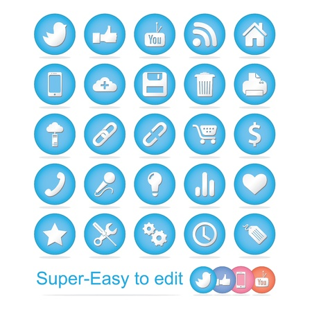 Social Icons Stock Vector - 18410893
