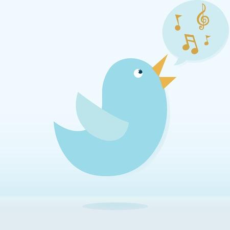 bird singing Stock Vector - 18427773