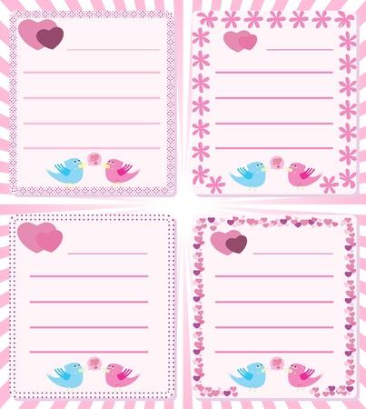 tweet: Love message birds tweet Illustration