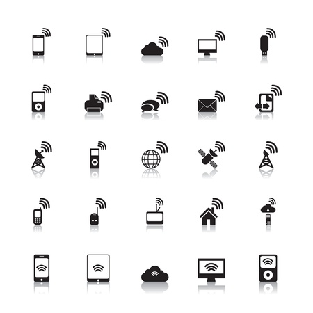 wireless signal: Wireless Icons Hotspot