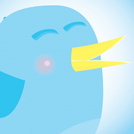 art blog: Social network blue bird, social media concept.