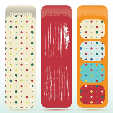 Vintage polka dot texture set and old look sratch. And also includes EPS 10 vector Vector
