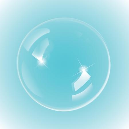 translucent: Bolla di bianco su sfondo blu, 300 dpi JPG, Illustrator CS, eps10, SVG. Vector file contiene trasparenza, ma � compatibile EPS10 Vettoriali