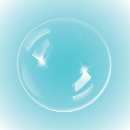 foam bubbles: White bubble on blue background, 300 dpi JPG, Illustrator CS, EPS10, SVG. Vector file contain transparency, but its EPS10 compatible