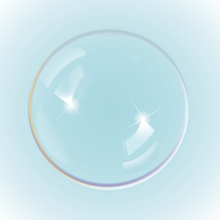 soap bubbles: Rainbow soap bubbles, eps10 vector Illustration