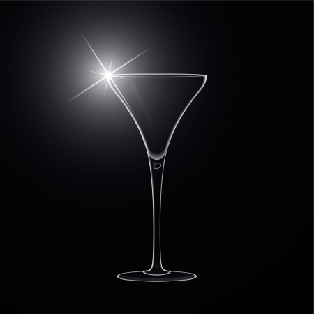 martini glass: Martini glass  cocktail  Vector